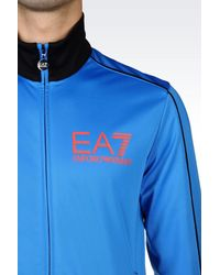 EA7 - Black 7colours Line Tracksuit for Men - Lyst