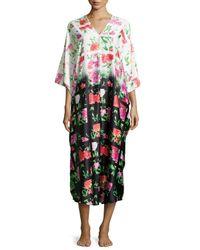 Natori - Multicolor Martinique Floral-print V-neck Caftan - Lyst