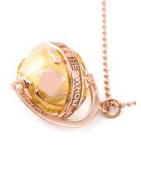 True Rocks | Pink Rose Gold & Gold Globe Pendant | Lyst