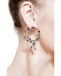 Bochic | Black and White Diamond Earrings | Lyst