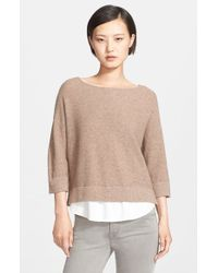 Joie - Brown 'symphorienne' Wool & Cashmere Sweater - Lyst