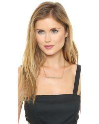 Rachel Zoe - Metallic Quills Pave Bar Necklace - Gold/Crystal - Lyst