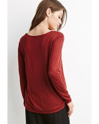 Forever 21 | Red Surplice Front Top | Lyst