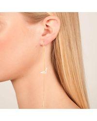 Dutch Basics - Pink Single Chain Drop Earring Tui Rose Gold - Lyst
