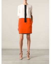 Victoria, Victoria Beckham | Black Colour Block Tunic Dress | Lyst