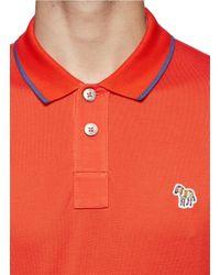 Paul Smith - Orange Zebra Logo Polo Shirt for Men - Lyst