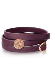 Astley Clarke - Multicolor Rose Gold Iris Nappa Leather Bolsena Bracelet - Lyst