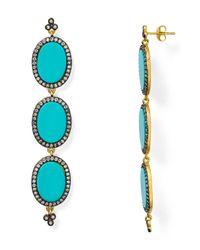 Freida Rothman | Metallic Triple Drop Slice Earrings | Lyst