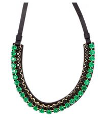 Marni - Green Crystal Leather Cord Necklace - Lyst