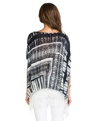 Twelfth Street Cynthia Vincent | Black Oversized Fringe Sweater  | Lyst