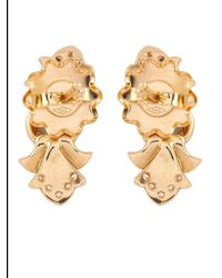 Sabine G - Metallic Diamond, Moonstone & Yellow-Gold Earrings - Lyst