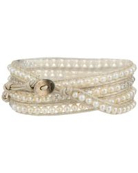 Chan Luu | Natural 32' White Mix/pearl Wrap Bracelet | Lyst