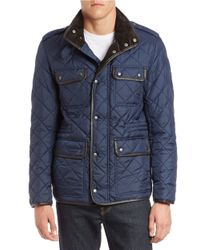 Cole Haan   Blue Quilted Four-pocket Field Jacket for Men   Lyst