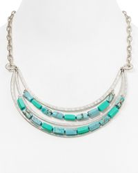 Robert Lee Morris | Blue Frontal Collar Necklace, 20"