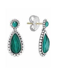 Lagos - Green 'maya' Teardrop Earrings - Lyst