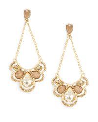 Cara | Metallic Teardrop Chandelier Earrings | Lyst