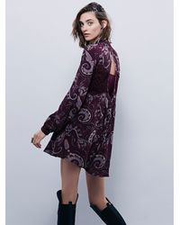Free People - Purple Womens Sweet Thing Printed Tunic - Lyst