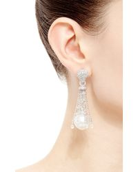 Gioia - Metallic South Sea Pearls And Briolette Diamonds Drop Earrings - Lyst
