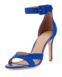 Joie | Blue Alvita Naked Suede Sandal | Lyst