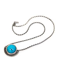 Pamela Love | Blue Sunset Pendant in Antique Silver | Lyst
