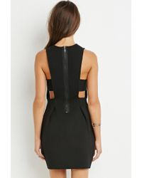 Forever 21 | Black Textured Bodycon Dress You've Been Added To The Waitlist | Lyst