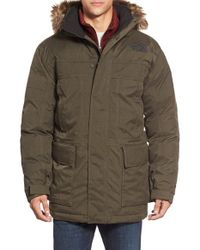 The North Face | Brown 'mcmurdo Parka Ii' Waterproof Goose Down Coat With Faux Fur Trim for Men | Lyst