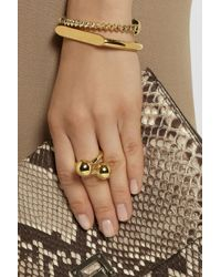 Jennifer Fisher - Metallic Double Ball Gold-Plated Ring - Lyst