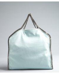 Stella McCartney - Blue 'mini Falabella - Shaggy Deer' Faux Leather Tote - Lyst