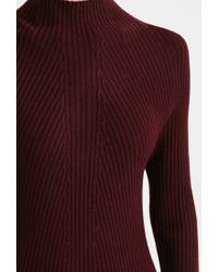 Forever 21 | Purple Ribbed Knit Sweater Dress | Lyst