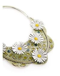 Philippe Audibert - Multicolor 'margueritte' Enamel Daisy Bib Necklace - Lyst