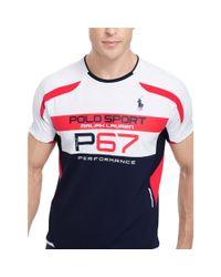 """Ralph Lauren - Blue """"p-67"""" Micro-dot T-shirt for Men - Lyst"""