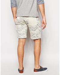 ASOS - Natural Jersey Shorts with Wave Design for Men - Lyst