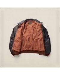 RRL - Black Calfskin Jacket for Men - Lyst