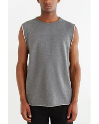 BDG - Gray Euba Fleece Muscle Sweatshirt for Men - Lyst