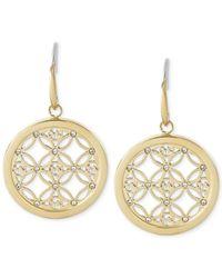 Michael Kors | Metallic Small Monogram Circle Drop Earrings | Lyst