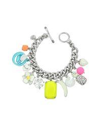 Juicy Couture - Metallic White Fruit Charm Bracelet - Lyst