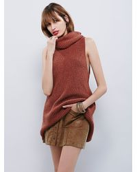 Free People - Brown Womens Need It Now Tank - Lyst