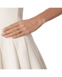 Monica Vinader - Pink Skinny Double Band Ring - Lyst