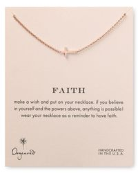 Dogeared | Pink Faith Necklace 18 | Lyst
