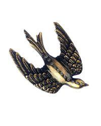 Queensbee | Metallic Swallow Bird Brooch | Lyst