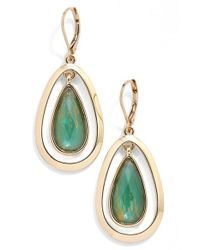 Anne Klein | Green Oscillating Teardrop Earrings | Lyst