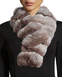 Gorski - Natural Chinchilla Fur Collar - Lyst