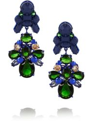EK Thongprasert - Green Silverplated Silicone and Cubic Zirconia Earrings - Lyst