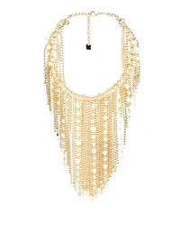 Rosantica By Michela Panero - Metallic Petardi Pearl-embellished Fringed-chain Necklace - Lyst