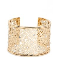 kate spade new york | Metallic Openwork Wrist Cuff - Clear | Lyst