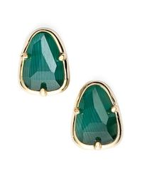 Kendra Scott | Metallic 'hazel' Stone Stud Earrings | Lyst