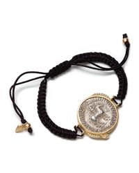 Coomi | Metallic Antiquity 20k Coin Braided Bracelet with Diamonds | Lyst