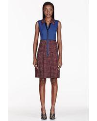 Marc Jacobs - Blue Burgundy Polka Dot Full Pleat Dress - Lyst