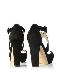 Karen Millen - Black Platform Sandal - Lyst