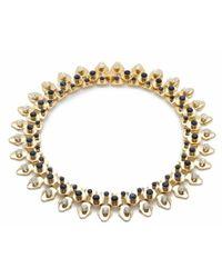 Lele Sadoughi   Stone Garland Necklace, Iris Blue   Lyst